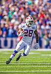 14 September 2014: Buffalo Bills running back C.J. Spiller rushes for a 47 yard gain in the third quarter against the Miami Dolphins at Ralph Wilson Stadium at Ralph Wilson Stadium in Orchard Park, NY. The Bills defeated the Dolphins 29-10 to win their home opener and start the season with a 2-0 record. Mandatory Credit: Ed Wolfstein Photo *** RAW (NEF) Image File Available ***