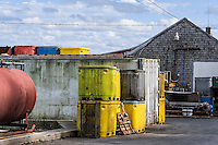 Seafood processing plant, Stonington, Maine, USA.