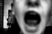 Wroclaw 20.04.2006 Poland<br /> The worst and the most dangerous district in Wroclaw ( Poland ) , called by people &quot;The Bermuda Triangle&quot;. There are walls bearing an inscription &quot;Who will enter here, will not exit alive&quot; Many families there are pathological and live in extreme poverty. Children have no place for any games so they loaf around on this wasted district and disseminate a juvenile delinquency. Many of them become sexually active though they are only 10-12 years old<br /> (Photo by Adam Lach / Napo Images)<br /> <br /> Najbardziej nabezpieczna dzielnica we Wroclawiu zwana przez ludzi Trojkatem Bermudzkim. Sa tam sciany opatrzone napisem &quot; Kto tu wejdzie, nigdy nie wyjdzie stad zywy&quot; Mieszka tam wiele rodzin patologicznych i zyja w wielkiej nedzy. Dzieci wlocza sie po ulicach nie majac miejsc na zabawe i szerza przestepczosc wsrod nieletnich. Wiele z dzieci uprawia seks choc maja zaledwie 10-12 lat<br /> (Fot Adam Lach / Napo Images)