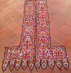 ATK-468 ANTIQUE TEXTILE EMBROIDERY WELCOME DOOR PANELS