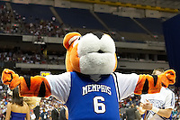 SAN ANTONIO, TX - MARCH 22, 2007: The Texas A&M University Aggies vs. The University of Memphis Tigers in the NCAA Men's Basketball South Regional first semi-final in the Alamodome. (Photo by Jeff Huehn)