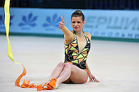 "Federica Febbo of Italy performs at 2011 World Cup Kiev, ""Deriugina Cup"" in Kiev, Ukraine on May 7, 2011."