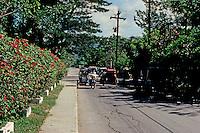 Philippines: Agoo--Side street traffic. Photo '82.