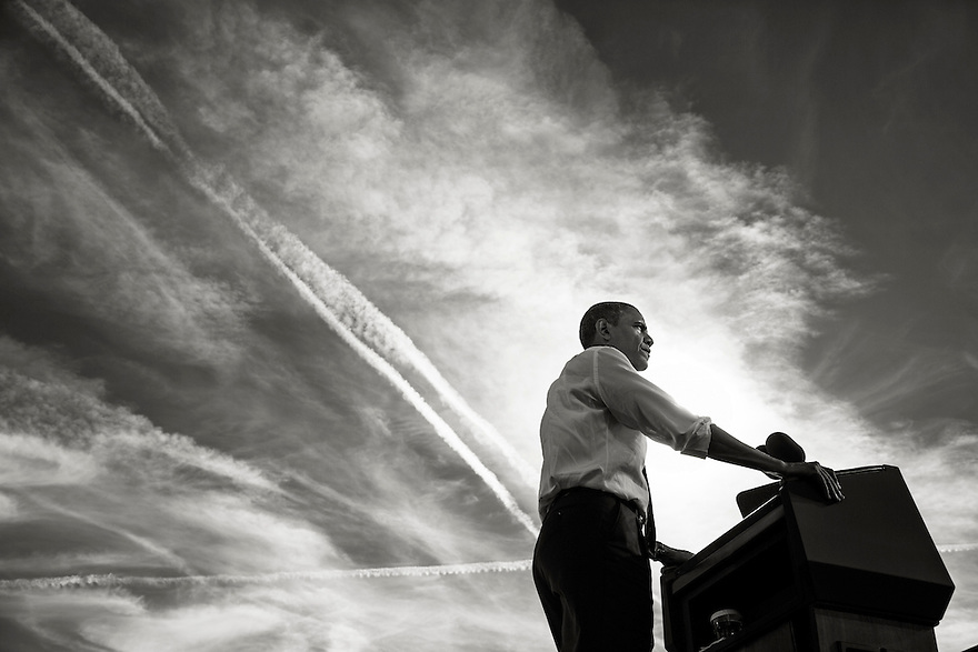 U.S. President Barack Obama attends a campaign event at Cheyenne Sports Complex in Las Vegas, Nevada