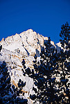 Fresh snow on Mount Abbot after a winter storm, John Muir Wilderness, Sierra Nevada Mountains, California