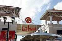 Entrance to La Isla Shopping Village mall in the Zona Hotelera, Cancun, Quintana Roo, Mexico.