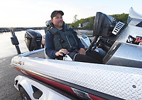 NWA Democrat-Gazette/FLIP PUTTHOFF <br /> FLW pro Greg Bohannan of Bentonville launches his boat early Tuesday April 25 2017 at Prairie Creek park for the final practice day of the Walmart FLW Tour bass tournament at Beaver Lake. The lake is off limits to FLW anglers today. The tournament is Thursday through Sunday.