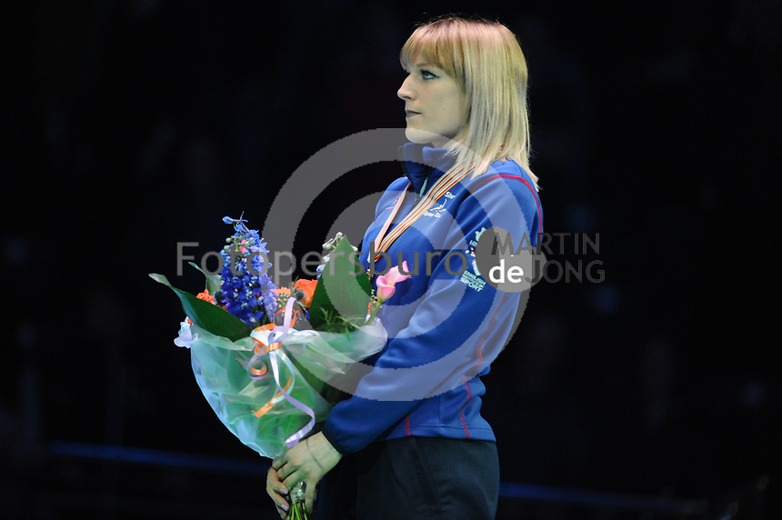 SHORT TRACK: ROTTERDAM: Ahoy, 11-03-2017, KPN ISU World Short Track Championships 2017, Podium 1500m Ladies,  Elise Christie (GBR), ©photo Martin de Jong