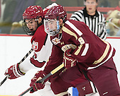 Patrick McNally (Harvard - 8), Brendan Silk (BC - 9) - The visiting Boston College Eagles defeated the Harvard University Crimson 5-1 on Wednesday, November 20, 2013, at Bright-Landry Hockey Center in Cambridge, Massachusetts.