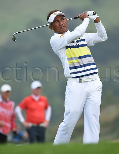 20.09.2014.  Newport, Wales. ISPS Handa Wales Open Golf. Day 3. Thongchai Jaidee of Thailand