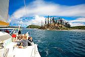 Croisičre en catamaran, baie de Prony, Nouvelle-Calédonie