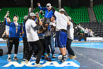 BIRMINGHAM, AL - MARCH 11:  Notre Dame College celebrates their victory during the Division II Men's Wrestling Championship held at the Birmingham CrossPlex on March 11, 2017 in Birmingham, Alabama. (Photo by Jamie Schwaberow/NCAA Photos via Getty Images)