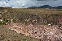 Salt mines of Mara, Peru, South America