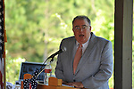 Oxford Mayor Pat Patterson speaks at the dedication of the new Veterans Park in Oxford, Miss. on Saturday, June 30, 2012.