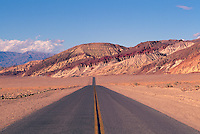 Death Valley National Park, California, USA - State Highway 178 along the Black Mountains near Golden Canyon