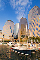 Harbor, Boats, West Street, New York City, New York World Financial Center, North Cove, New York Harbor