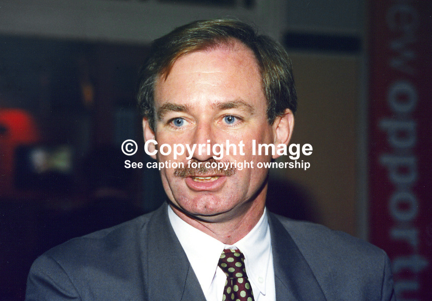 Geoff Hoon, MP, Labour Party, UK, 19961013GH.<br /> <br /> Copyright Image from Victor Patterson, 54 Dorchester Park, <br /> Belfast, UK, BT9 6RJ<br /> <br /> t1: +44 28 9066 1296 (from Rep of Ireland 048 9066 1296)<br /> t2: +44 28 9002 2446 (from Rep of Ireland 048 9002 2446)<br /> m: +44 7802 353836<br /> <br /> e1: victorpatterson@me.com<br /> e2: victorpatterson@gmail.com<br /> www.victorpatterson.com<br /> <br /> Please see my Terms and Conditions of Use at www.victorpatterson.com. It is IMPORTANT that you familiarise yourself with them.<br /> <br /> Images used on the Internet must be visibly watermarked i.e. &copy; Victor Patterson<br /> within the body of the image and copyright metadata must not be deleted. Images <br /> used on the Internet have a size restriction of 4kbs and will be chargeable at current<br />  NUJ rates unless agreed otherwise.<br /> <br /> This image is only available for the use of the download recipient i.e. television station, newspaper, magazine, book publisher, etc, and must not be passed on to any third <br /> party. It is also downloaded on condition that each and every usage is notified within 7 days to victorpatterson@me.com<br /> <br /> The right of Victor Patterson to be identified as the author is asserted in accordance with The Copyright Designs And Patents Act (1988). All moral rights are asserted.