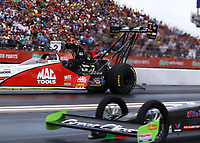 Apr 22, 2017; Baytown, TX, USA; NHRA top fuel driver Doug Kalitta during qualifying for the Springnationals at Royal Purple Raceway. Mandatory Credit: Mark J. Rebilas-USA TODAY Sports