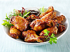 BBQ chicken wings. Funky Stock library chicken wings images of bbq food.