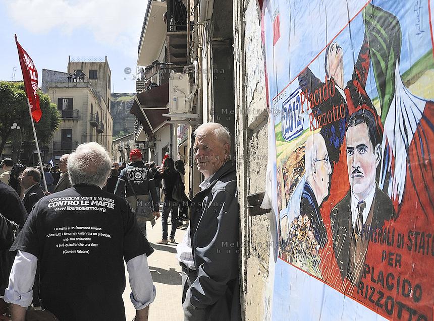 Corleone,the during  state funeral of the unionist Placido Rizzotto killed by mafia on 1948.<br /> <br /> Corleone durante i funerali di stato del sindacalista Placido Rizzotto ucciso dalla mafia nel 48.