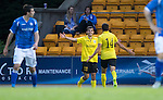 St Johnstone v Alashkert FC...09.07.15   UEFA Europa League Qualifier 2nd Leg<br /> Norayr Gyozalyan celebrates his goal<br /> Picture by Graeme Hart.<br /> Copyright Perthshire Picture Agency<br /> Tel: 01738 623350  Mobile: 07990 594431
