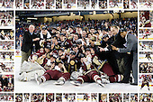 Boston College - frame includes at least one image of each player on 2010 National Champion team from final or postgame.  Images chosen by client who commissioned the 'collage'.