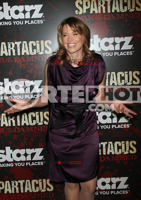 NEW YORK, NY - JANUARY 24: Lucy Lawless at the final season premiere of Starz's 'Spartacus: War of the Damned' at the Museum of Modern Art in New York City. January 24, 2013. Credit: RW/MediaPunch Inc. /NortePhoto /NortePhoto