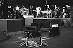 Paul and Linda McCartney Wings Tour 1975.  Toddler Stella McCartney lies on the floor sucking her thumb waiting for her parents during a rehearsal  at Elstree  London, England.