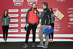 Former champion Ivan Basso (ITA) at sign on before the start of the 2017 Strade Bianche running 175km from Siena to Siena, Tuscany, Italy 4th March 2017.<br /> Picture: Heinz &amp; Sabine Zwicky/Radsport.ch | Newsfile<br /> <br /> <br /> All photos usage must carry mandatory copyright credit (&copy; Newsfile | Heinz &amp; Sabine Zwicky/Radsport.ch)