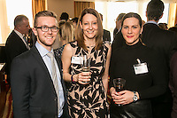Pictured from left is James Beck of Riverfall Financial with Serena Humphrey of The F-Word and Masa Prastalo of Your HR