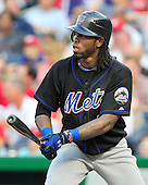 New York Mets shortstop Jose Reyes (7) bats in the second inning against the Washington Nationals at Nationals Park in Washington, D.C. on Friday, July 29, 2011..Credit: Ron Sachs / CNP.(RESTRICTION: NO New York or New Jersey Newspapers or newspapers within a 75 mile radius of New York City)