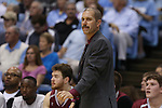 06 November 2015: Guilford head coach Tom Palombo. The University of North Carolina Tar Heels hosted the Guilford College Quakers at the Dean E. Smith Center in Chapel Hill, North Carolina in a 2015-16 NCAA Men's Basketball Exhibition game. UNC won the game 99-49.