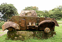 Abandoned army tank at the entrance to Finca Selva Negra near Matagalpa, Nicaragua. This Samoza tank was ambushed in 1979 by the Sandinistas.