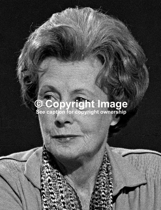 Barbara Castle, MEP, Labour Party, UK, former Cabinet Minister, 198010000325.<br />