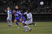 Stephane Auvray #8, Marvell Wynne...Kansas City Wizards defeated Colorado Rapids 1-0 at Community America Ballpark, Kansas City, Kansas.