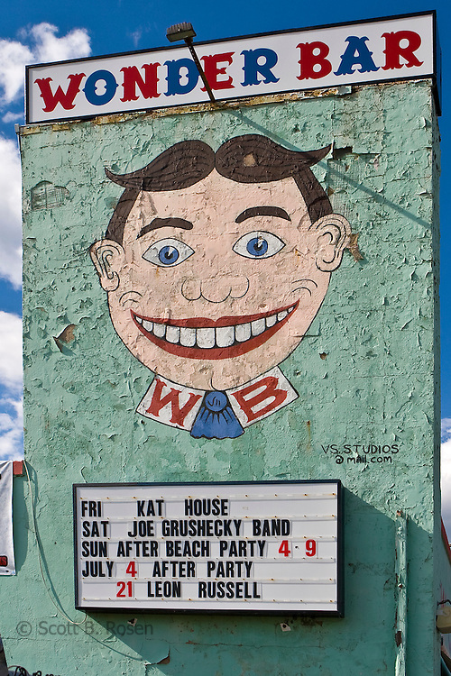 Face of Tillie at the historic, music venue, the Wonder Bar, in Asbury Park, New Jersey