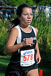 Capital senior Abby Larson during the NNU Invite at West Park in Nampa, ID on September 11, 2010. <br /> <br /> Larsen finished in 20:49.90 to place sixteenth.