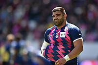 Zurab Zhvania of Stade Francais leaves the field injured. European Rugby Challenge Cup Semi Final, between Stade Francais and Bath Rugby on April 23, 2017 at the Stade Jean-Bouin in Paris, France. Photo by: Patrick Khachfe / Onside Images