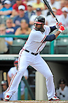 6 March 2012: Atlanta Braves outfielder Jason Heyward in action during a Spring Training game against the Washington Nationals at Champion Park in Disney's Wide World of Sports Complex, Orlando, Florida. The Nationals defeated the Braves 5-2 in Grapefruit League action. Mandatory Credit: Ed Wolfstein Photo