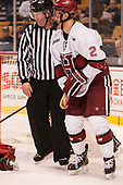 Joe Ross, Tyler Moy (Harvard - 2) - The Harvard University Crimson defeated the Northeastern University Huskies 4-3 in the opening game of the 2017 Beanpot on Monday, February 6, 2017, at TD Garden in Boston, Massachusetts.