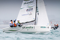 20120607, Weymouth, England: SKANDIA SAIL FOR GOLD 2012 - The waters of Weymouth Bay and Portland Harbour will be filled with the stars of sailing over the next couple of weeks as the team?s training camps at the 2012 Olympic venue turn serious with the final pre-event - Skandia Sail for Gold. The 523 entries from 59 nations features 723 athletes and 249 coaches. .PHOTO: Mick Anderson/SAILINGPIX.DK