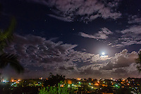 Tugun, Queensland Australia. (Friday March 21, 2014) –  The moon rising over Tugun and Coolangatta on the night of the 20th of March, the Equinox. Photo: joliphotos.com