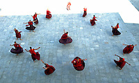 Buddhist monks practise a dance in the eastern village of Trashi Yangtse. Bhutan challenges the conventional yardstick for measuring economic development and growth, the quantitative measure of Gross National Product (GNP), and instead focuses on a holistic, multidimensional measure - Gross National Happiness (GNH)...