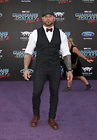"""HOLLYWOOD, CA - April 19: Dave Bautista, At Premiere Of Disney And Marvel's """"Guardians Of The Galaxy Vol. 2"""" At The Dolby Theatre  In California on April 19, 2017. Credit: FS/MediaPunch"""