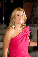 Crown Princess Maxima of Holland attends a Cocktail Party at The Poseidonion Hotel, in Spetses, Greece, on the eve of the Wedding of Prince Nikolaos of Greece to Tatiana Blatnik.