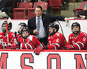 Seth Appert (RPI - Head Coach) - The Harvard University Crimson defeated the visiting Rensselaer Polytechnic Institute Engineers 5-2 in game 1 of their ECAC quarterfinal series on Friday, March 11, 2016, at Bright-Landry Hockey Center in Boston, Massachusetts.