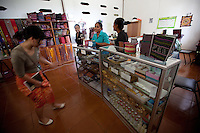 March 23rd, 2011_ BAUCAU, TIMOR-LESTE_ Views of a gift shop selling locally made products at the Canossa Collage, located in the Timorese town of Baucau.  Canossa is a training centre and dormitory for woman and girls run by the Catholic Church.  Photographer: Daniel J. Groshong/Tayo Photo Group