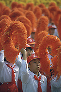 Beijing, China. October 1st, 1984. This huge parade is for the celebration of the 35th Anniversary of the Chinesse Revolution.