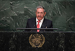 His Excellency Ra&uacute;l Castro Ruz, President of the Republic of Cuba<br /> <br /> <br /> 6th plenary meeting High-level plenary meeting of the General Assembly (3rd meeting)