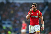 George North of Wales looks on during a break in play. RBS Six Nations match between England and Wales on March 12, 2016 at Twickenham Stadium in London, England. Photo by: Patrick Khachfe / Onside Images